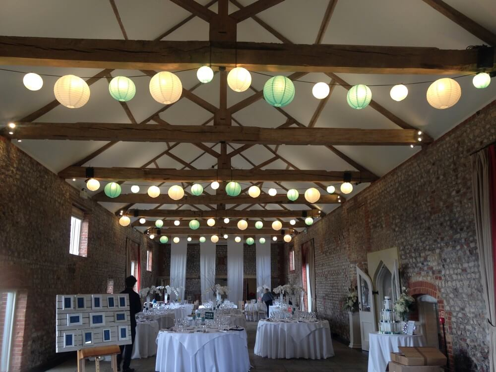 Paper Lanterns on LED Festoon